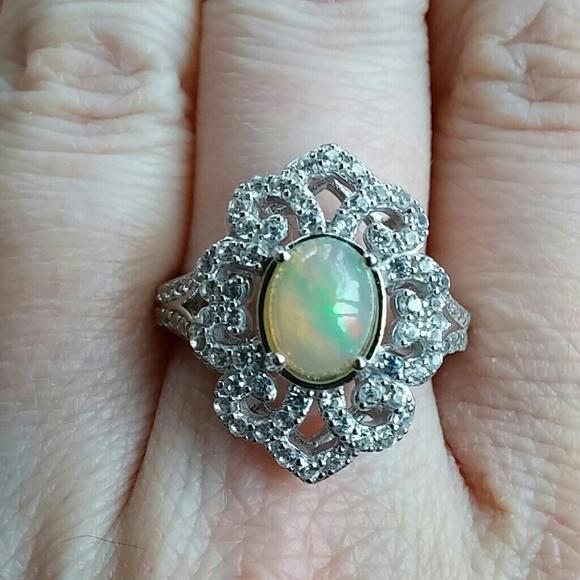 3c44bf7a952bae Jewelry | Salevintage Style Opal Zircon Ring | Poshmark